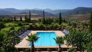 Pool at Kasbah Angour Atlas Mountains Hotel