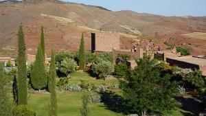 Southern garden at Kasbah Angour Atlas Mountains Hotel