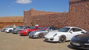 Porsche in Kasbah Angour's car park