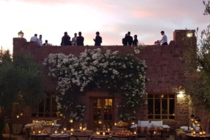 Bar roof terrace at Kasbah Angour Atlas Mountains Hotel
